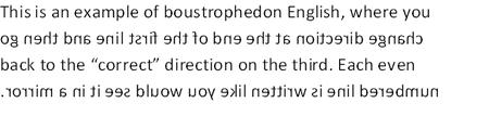 Boustrophedon English
