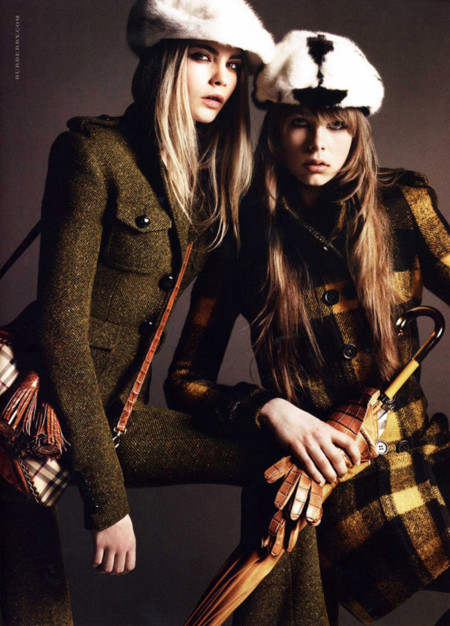 Burberry Edie Campbell Delevingne