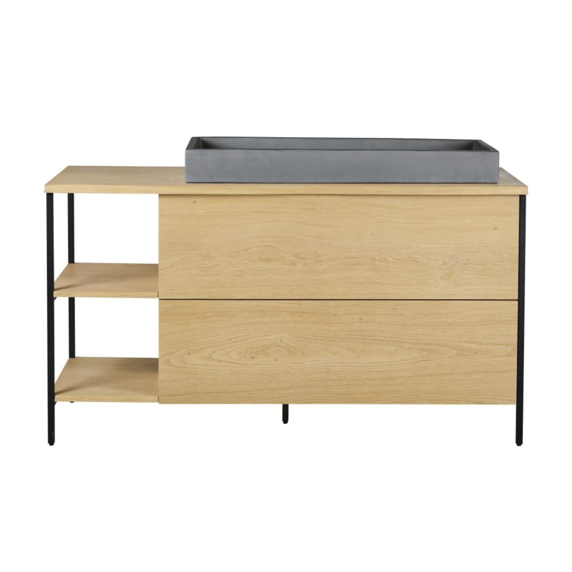 MAGNUS.- Mueble de lavabo con 2 cajones y 2 estanterías