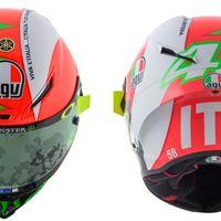 Valentino Rossi estrena casco en Mugello con homenaje a su país y sin olvidarse del SoleLuna