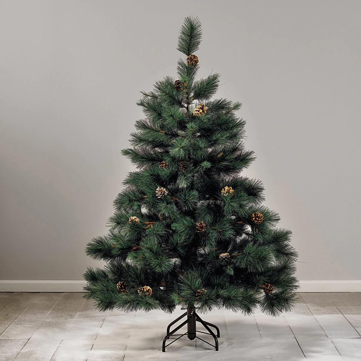 Árbol Sestriere con piñas decorativas Navidad