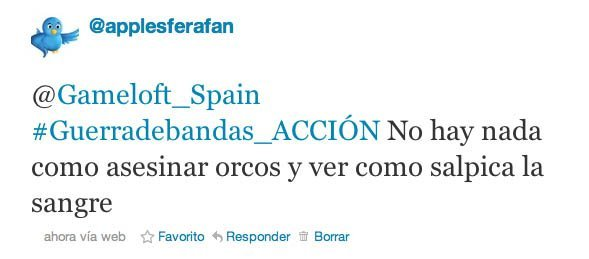 tweet accion gameloft