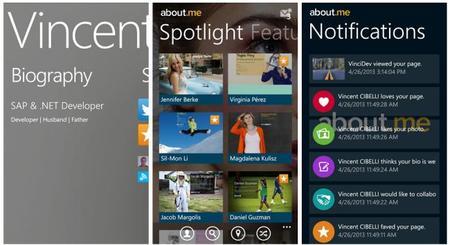 Si usas About.me, hay un nuevo cliente no oficial para Windows Phone 8