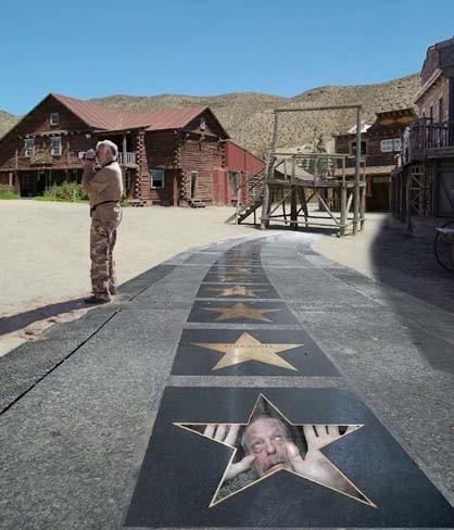 Terry Gilliam 'atrapado' en Almería, la imagen de la semana