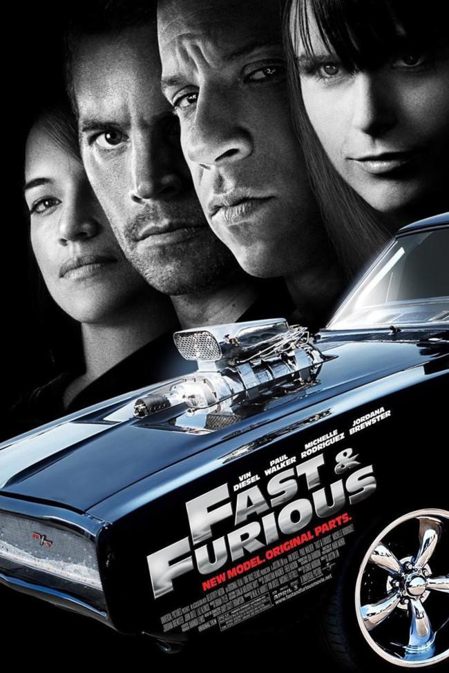 Fast and Furious Foto enmarcada y firmada de Paul Walker y Vin Diesel
