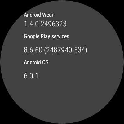 Android Wear 6 0 1