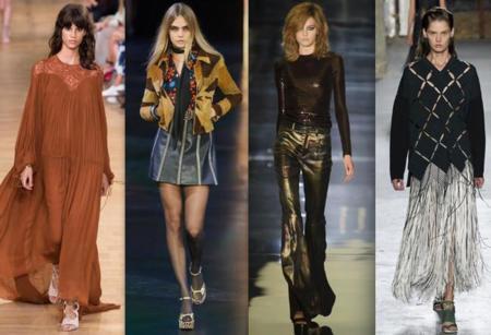 Tendencia Moda Años 70 Pasarela