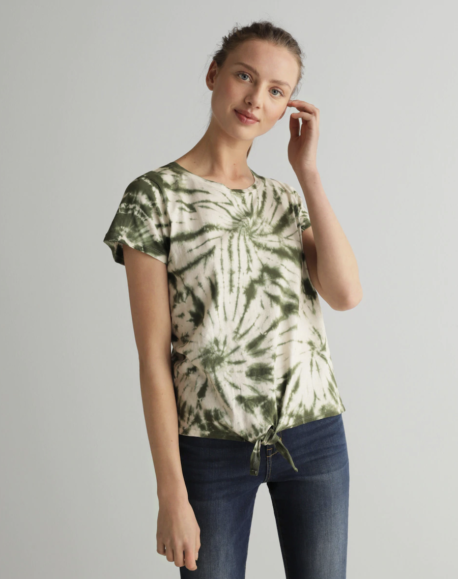 Camiseta de mujer tie dye 100% algodon