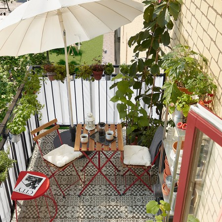 mesas de terraza pequeñas ikea