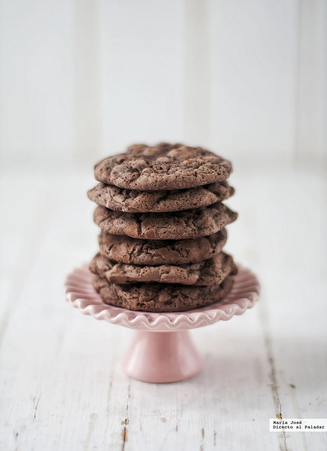 Cookie brownies de chocolate. Receta con y sin Thermomix