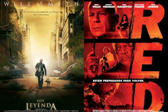 Carteles de Soy Leyenda y RED