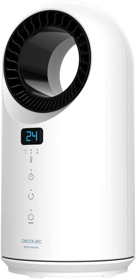 Cecotec Calefactor Ready Warm 8200 Bladeless. Potencia 1500 W, Mando a Distancia, Control táctil, 3 Modos, Oscilación 60º, Temporizador, Triple Sistema de Seguridad