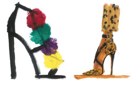Ilustraciones de zapatos