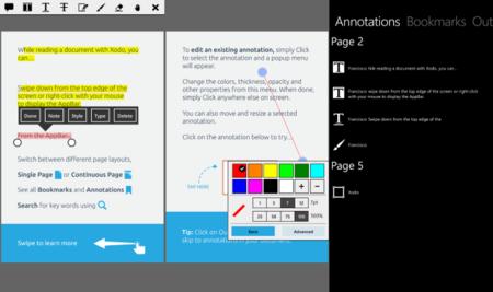 Xodo PDF, una excelente aplicación para tomar notas y editar PDFs en Windows Phone