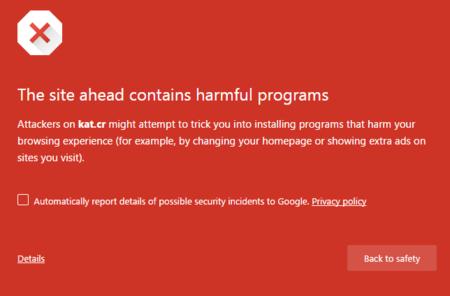 La oleada de advertencias en webs P2P desde Chrome y Firefox. La imagen de la semana