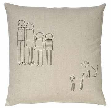Cojines personalizados con dibujo de la familia