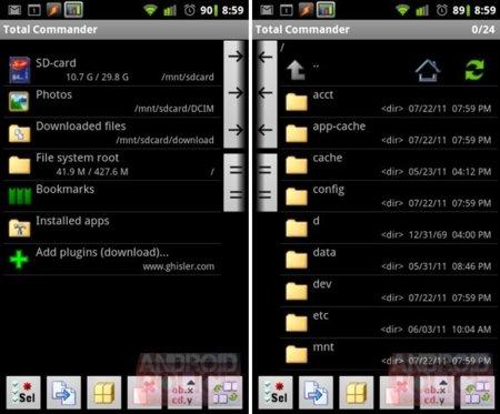 Total Commander para Android empieza a tomar forma en fase beta avanzada
