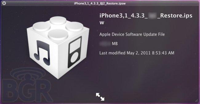 apple ios 4.3.3 actualización
