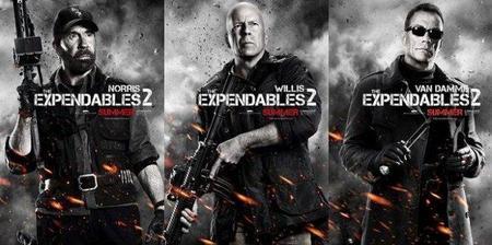 'Los mercenarios 2', carteles de los personajes protagonistas