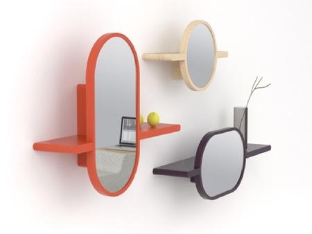 Mirette, estantes con espejo incorporado