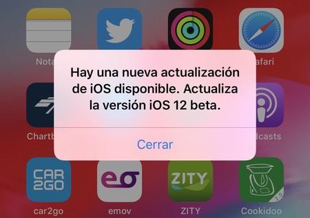 No eres sólo tú: la beta de iOS 12 está 'spammeando' notificaciones sobre una actualización inexistente