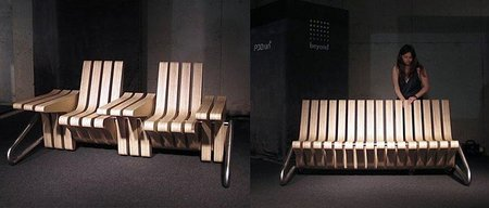 Coffee Bench, un banco convertible en mesa o asiento