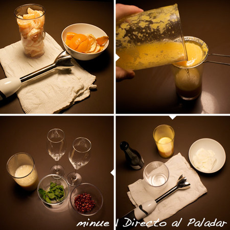 sorbete de mandarina - preparación