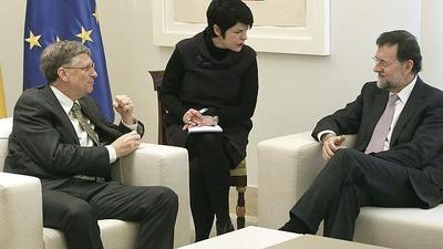 Bill Gates es recibido por Rajoy en La Moncloa para hablar del recorte en Desarrollo