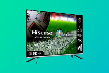 """La nueva Smart TV 4K QLED Hisense 55E76GQ Gaming 2021 de 55"""" con HDMI 2.1 está a 629 euros en Amazon, su precio mínimo histórico"""