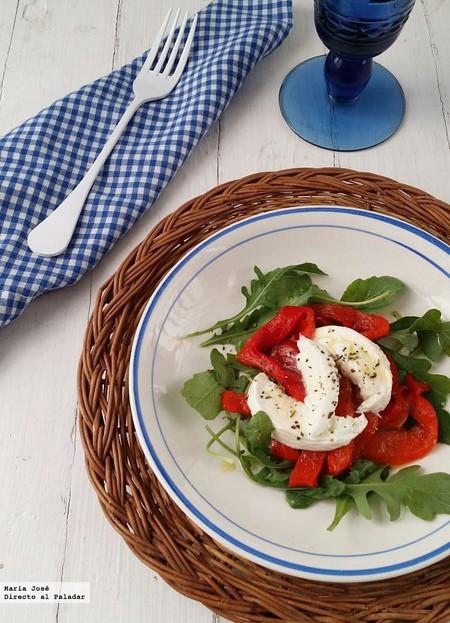 Ensalada italiana de pimientos asados, receta fácil y deliciosa