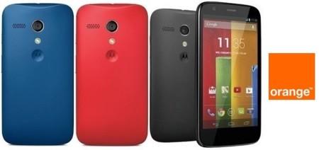 Precios Motorola Moto g con Orange y comparativa con la competencia