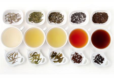 Los 5 colores del té