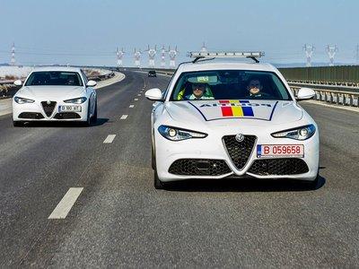 Durante 12 meses los 280 CV de este Alfa Romeo Giulia Veloce perseguirán el crimen en Rumanía