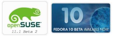 Liberadas las versiones Beta de Fedora 10 y OpenSUSE 11.1