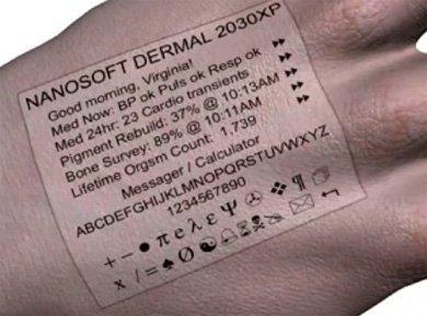 Nanorobots en la piel que te informa sobre tu propio cuerpo