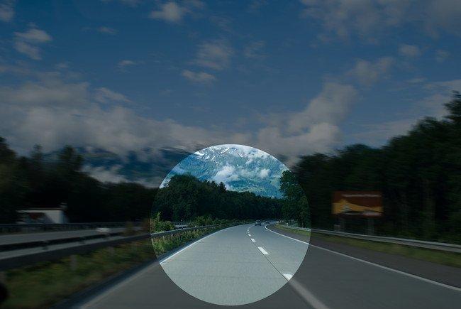Autobahn Suiza con vision tunel