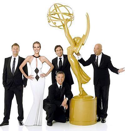Heidi Klum radiante en la promoción de los Emmys de 2008