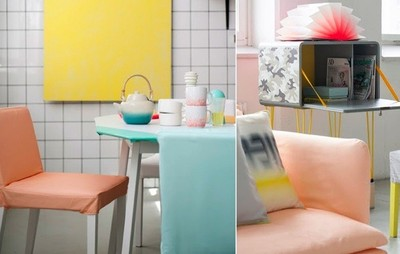 Bemz viste los muebles nórdicos con colores pastel