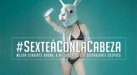 Campaña #Sexteaconlacabeza de la ONG Faro Digital