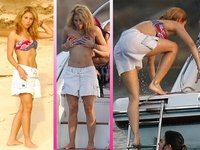 Shakira vaya modelito me llevas para darte un chapuzón