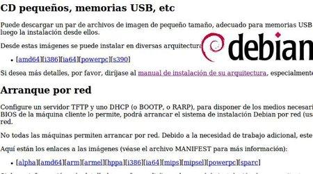 Posibles instalaciones de Debian