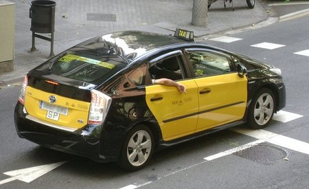 Toyota Prius taxi, en Barcelona