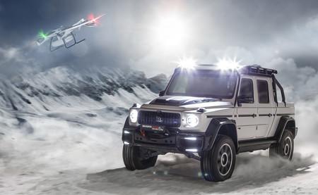 Brabus 800 Adventure XLP: una brutal pick-up de 800 CV con dron de rescate incluido, para el Salón de Ginebra