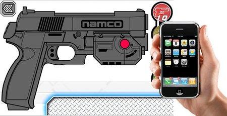 ¿Recordáis la pistola de los arcades de tiros? Namco reinventa su G-Con 45 con un iPhone y un iPad