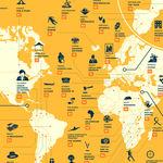 Las mejores series de cada país del mundo según su puntuación en IMDB, en un mapa