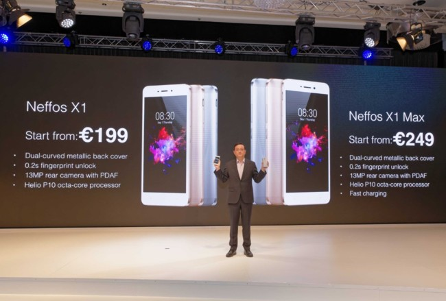 Thumbnail Jeffrey Chao Announcing The Prices Of The Neffos X1 And X1 Max