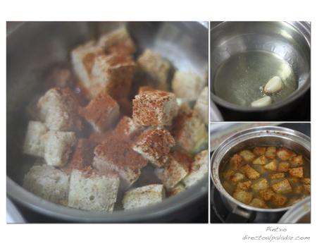 Sopa Castellana. Pasos
