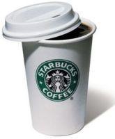 Un vaso de Starbucks
