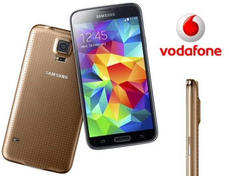 Precios Samsung Galaxy S5 Gold de 32 GB en exclusiva con Vodafone