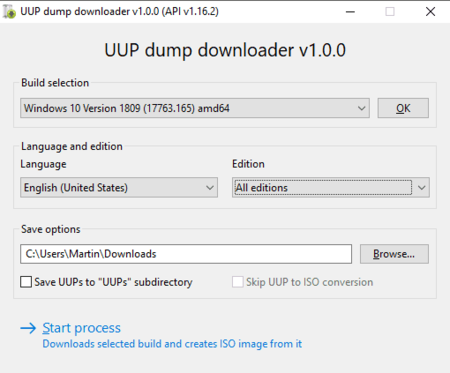 Uup Dump Downloader